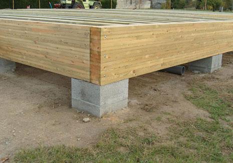 Dalle bois nailweb - Plot beton pour poteau bois ...